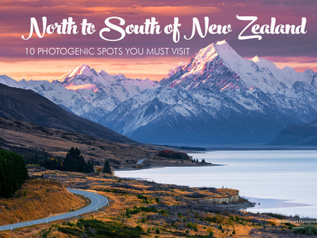 NORTH TO SOUTH OF NEW ZEALAND: 10 PHOTOGENTIC SPOTS YOU MUST VISIT