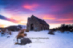 Church of the Good Shepherd Tekapo sunset
