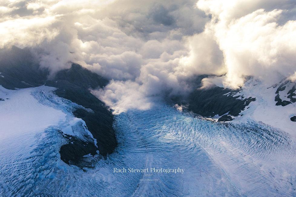 Mount Cook aerial glacier