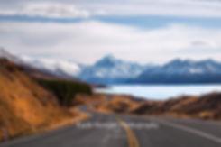 The road to Mount Cook Aoraki