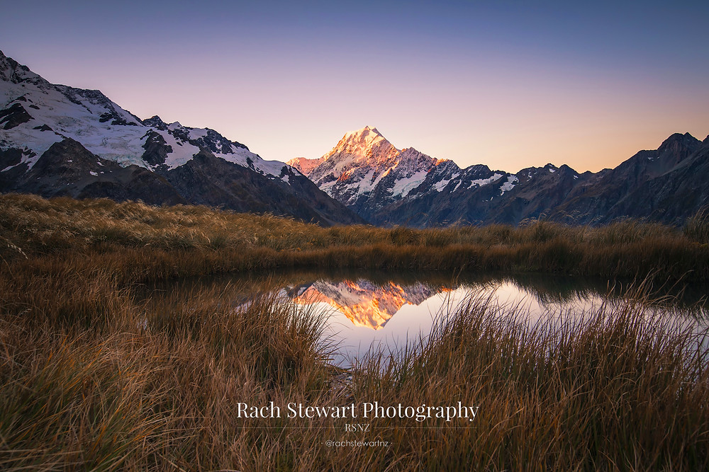 Mount Cook reflection Sealy Tarns