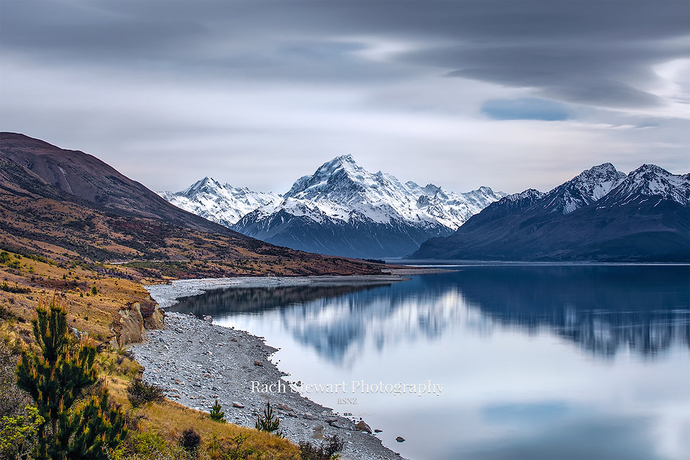 Mount Cook reflection Lake Pukaki