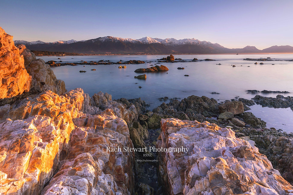 Kaikoura rocks sunrise