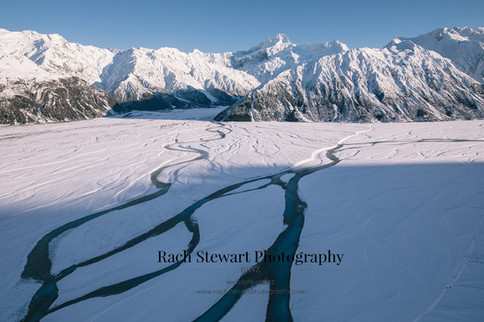 Braided Rivers Mount Cook