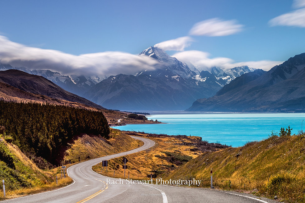 Road to Mount Cook summer