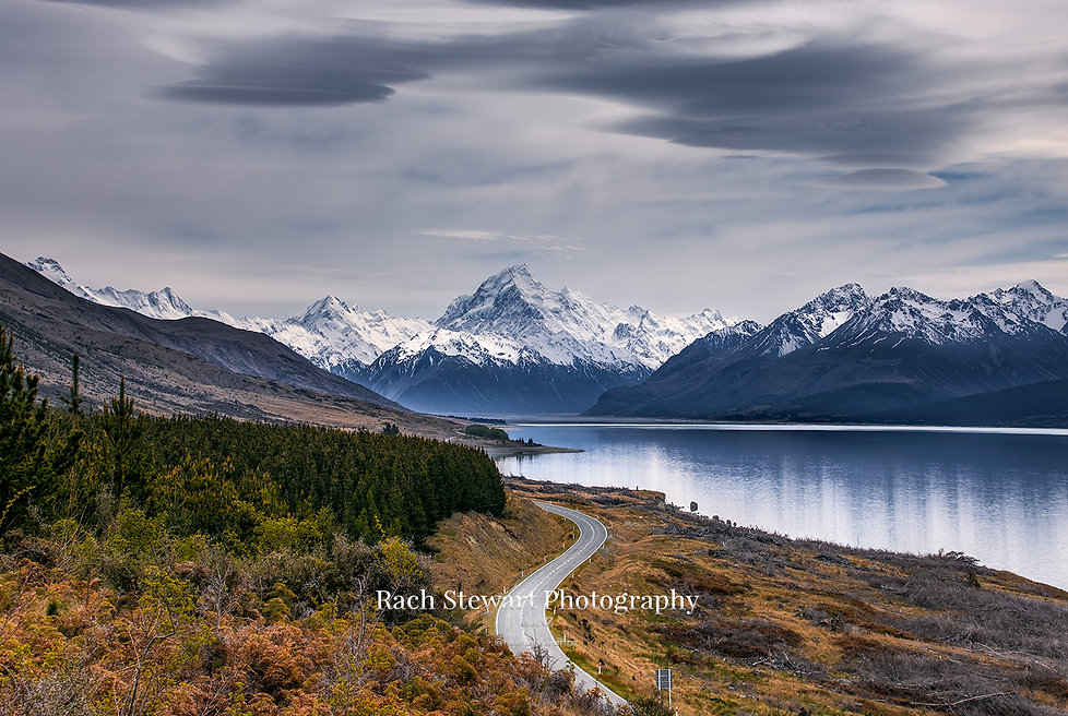 Road to Mount Cook reflection