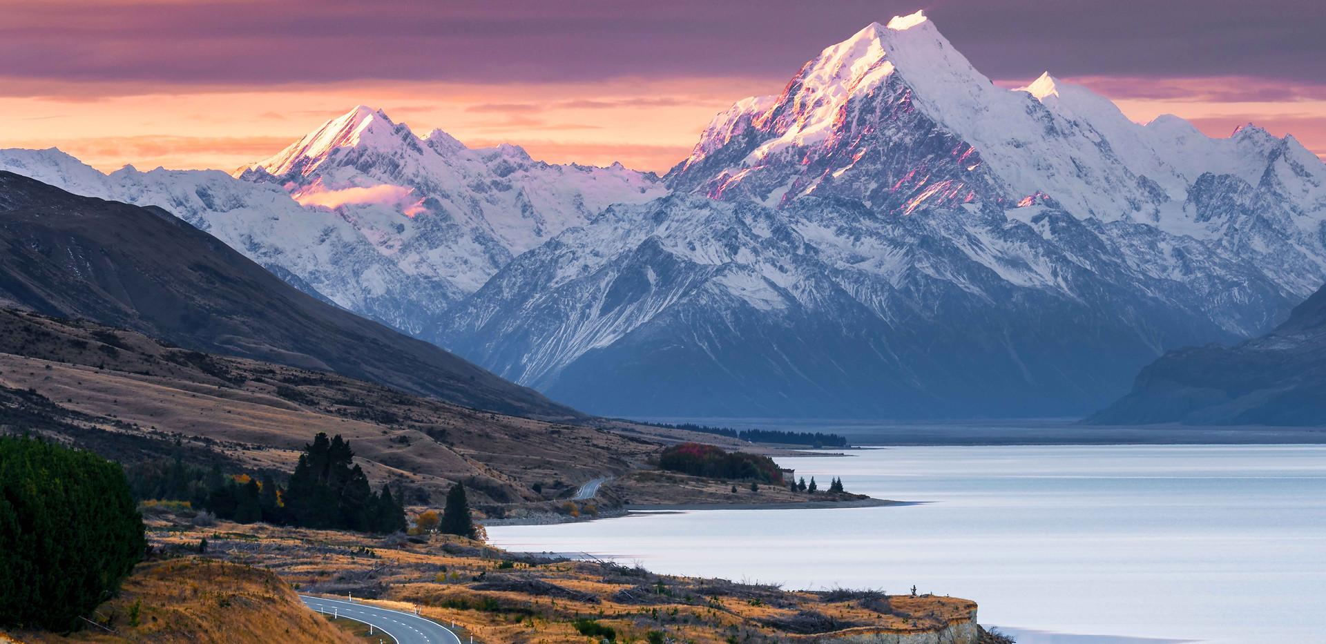 The Road to Mount Cook, Lake Pukaki