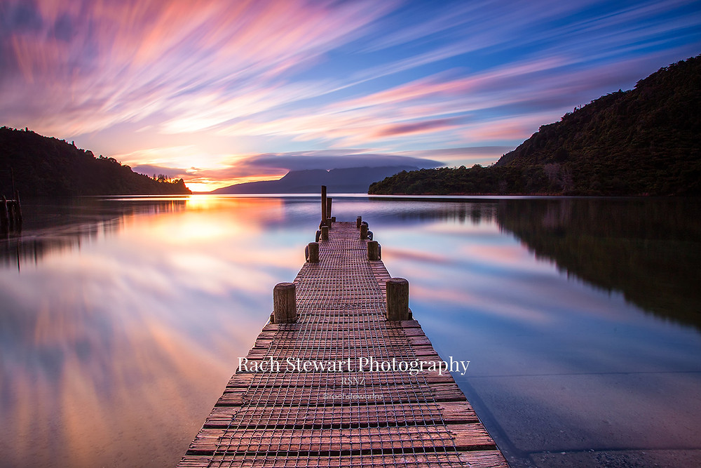 Lake Tarawera sunrise from The Landing, Rotorua