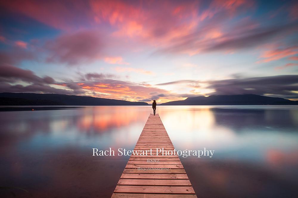Lake Tarawera sunrise from Rangiuru Bay, Rotorua