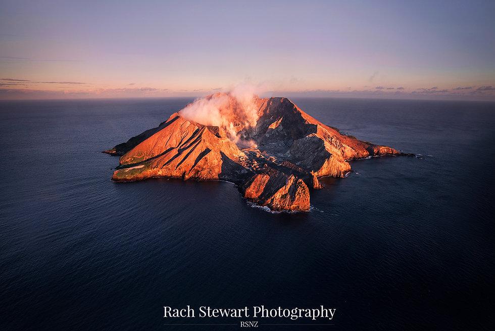 White Island Whakaari sunrise
