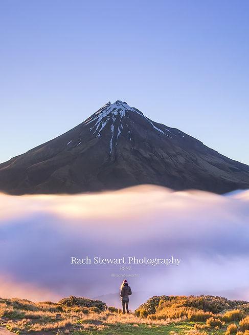 Mount Taranaki sunrise fog