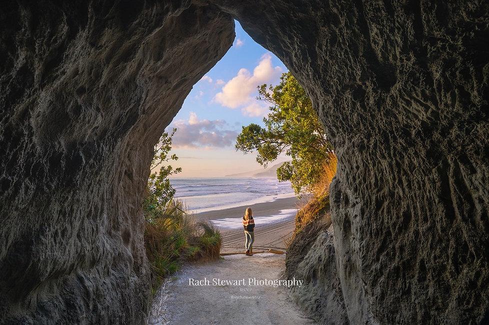 Waikwau Tunnel Beach Sunset