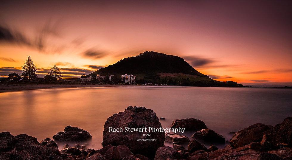 Mount Maunganui sunset beach