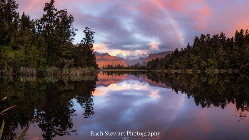 Lake Matheson Sunset Panorama
