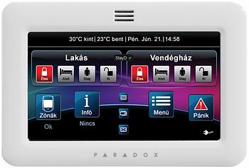 PARADOX érintőképernyős kezelő
