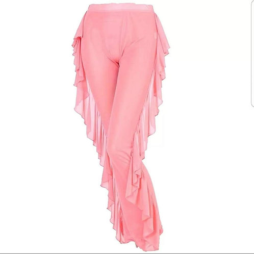 Sheer pants cover-up