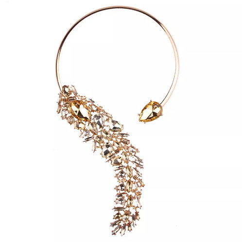 Crystal Cuff collar necklace
