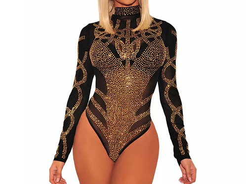 Sequence gold bodysuit