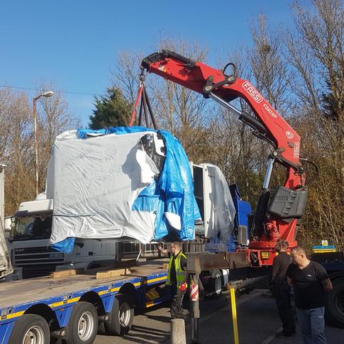 unloading new machine liverpool