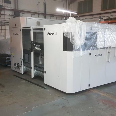 new laser machine instal
