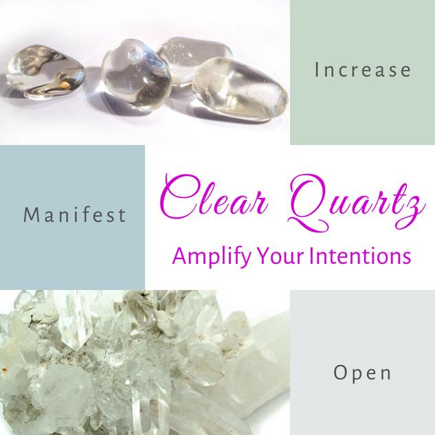 Clear Quartz-Amplify Your Intentions