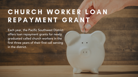 Church Worker Loan Repayment Grants 2019