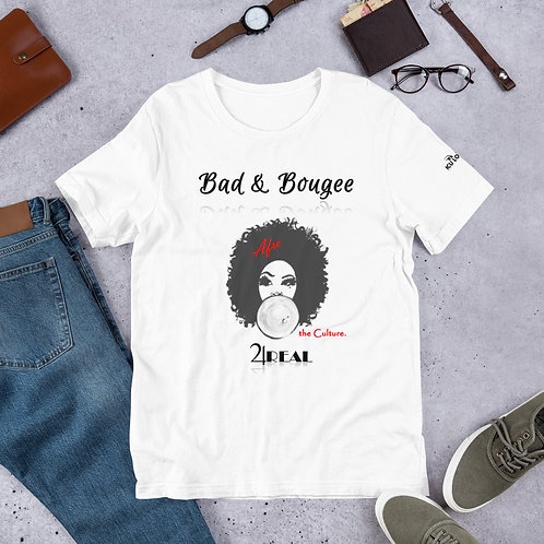 """Bad & Bougee 4Real """"the Culture"""" Afro Short-Sleeve Unisex T-Shirt for Women"""