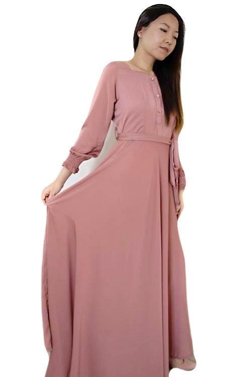 Tea Pink Maxi Dress