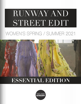 SS21 RUNWAY AND STREET EDIT: ESSENTIAL EDITION