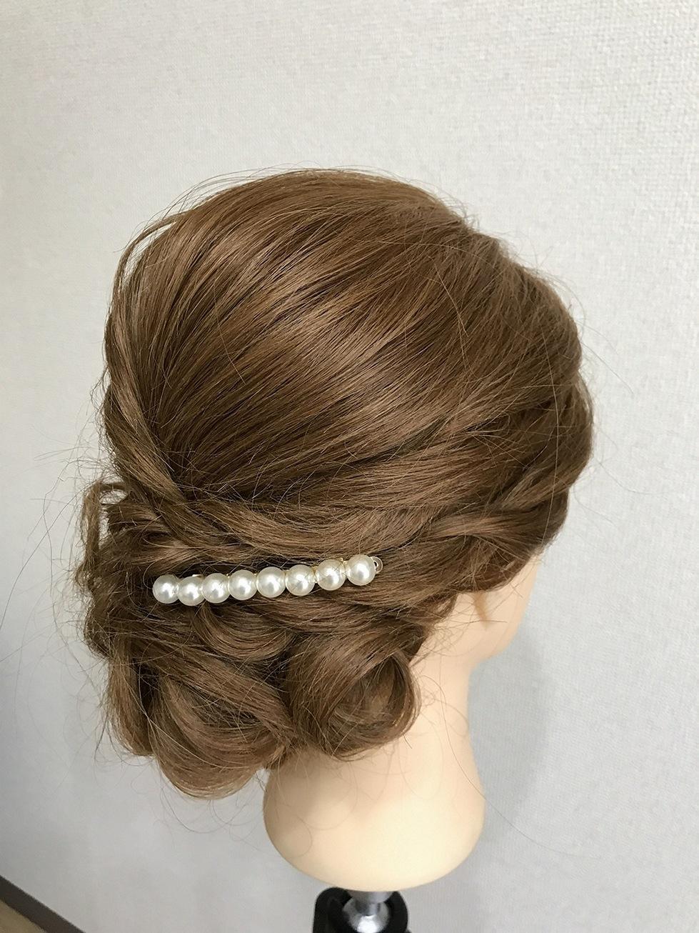 白B02レンタル髪飾り