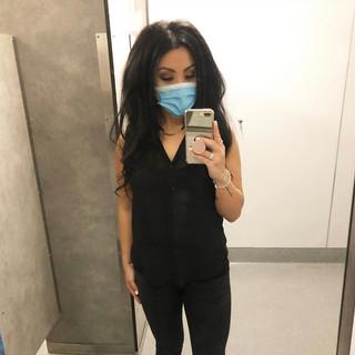 H&M blouse, Zara jeans