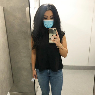 Amazon blouse, Zara jeans