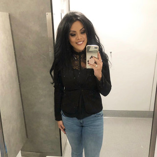 H&M blazer, Amazon top, Zara jeans