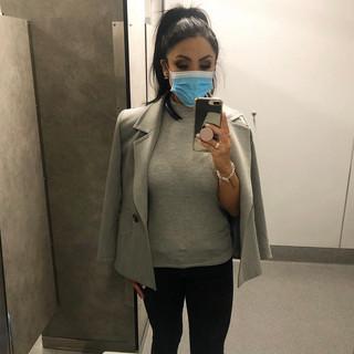 9 July   Saint Laurent coat, turtleneck tank top, Zara jeans