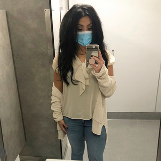 Target cardigan, Forever 21 blouse, H&M jeans