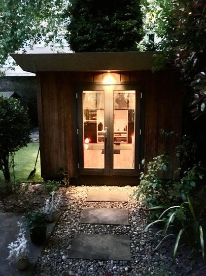 Our garden studio holds up to three people