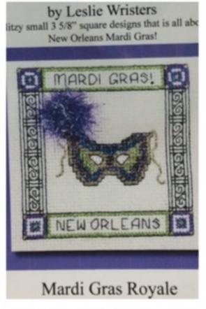 Mardi Gras Royale cross stitch chart