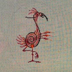 Gestural Flamingo
