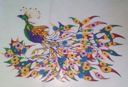 Mardi Gras Peacock
