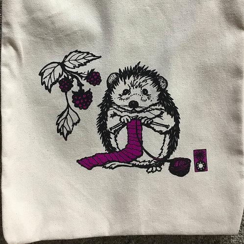Knitting Hedgehog Project Bag