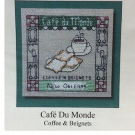 Cafe' du Monde cross stitch chart