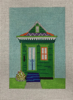 Green Single Shotgun House