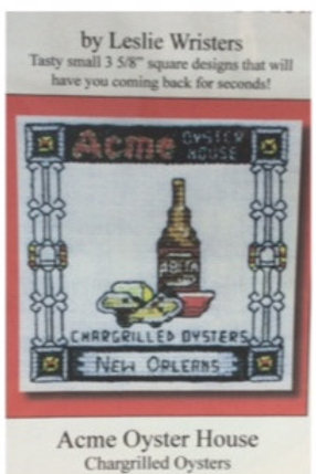 Acme Oyster House cross stitch chart