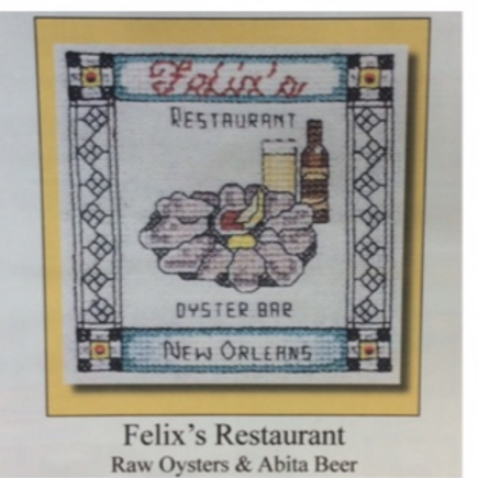 Felix's Restaurant cross stitch chart