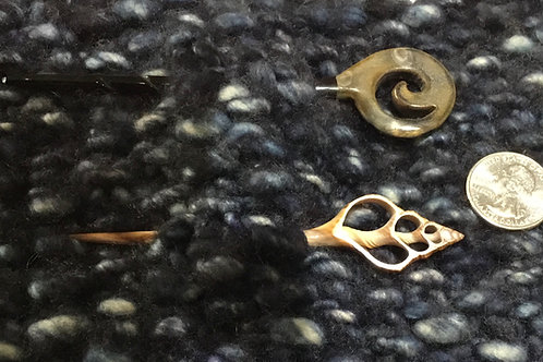 Horn or Shell Shawl Pins