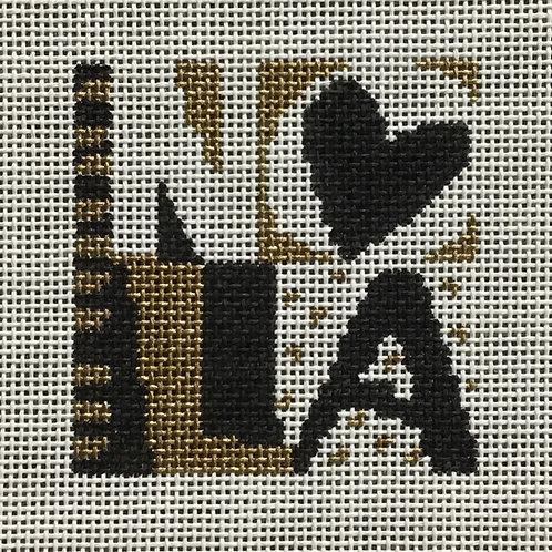 NOLA Love (black & gold)