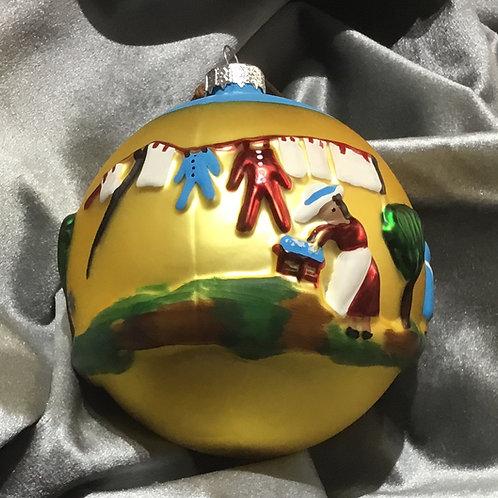 Washday Round Ball Ornament