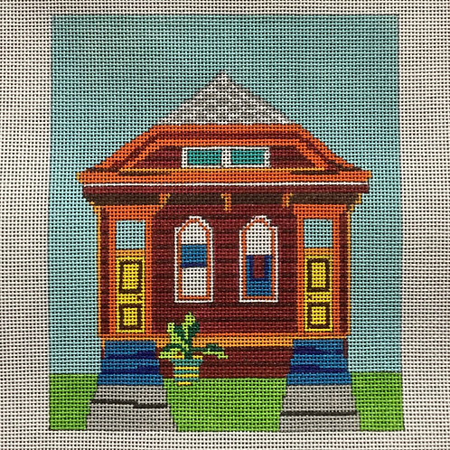 Red Double Shotgun House