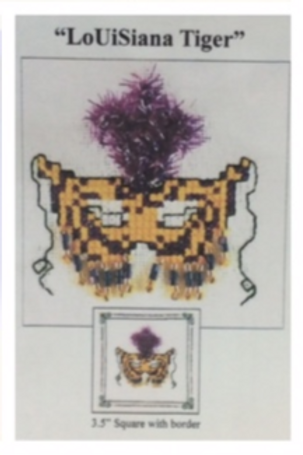 Louisiana Tiger Mask cross stitch