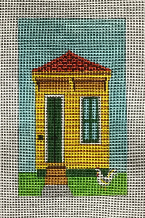 Yellow Single Shotgun House